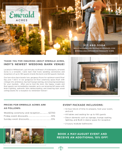 INDY`S NEWEST WEDDING BARN VENUE! BOOK A MAY
