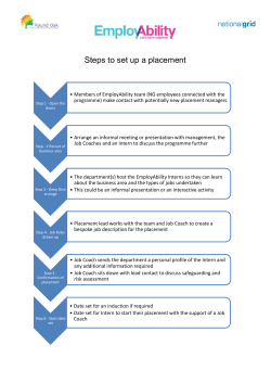 Steps to set up a placement - EmployAbility – Let`s work together
