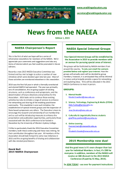 News from the NAEEA - National Association of Enabling Educators
