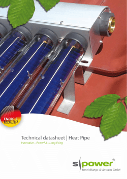 Technical datasheet | Heat Pipe