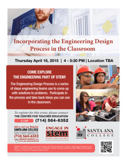 Engineering Process in the Classroom Event