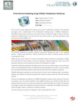 Finite Element Modeling Using COMSOL Multiphysics Workshop