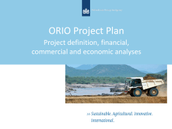 Presentation Financial Plan ORIO