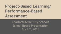 Project-Based Learning/ Performance