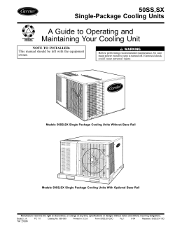 A Guide to Operating and Maintaining Your Cooling Unit