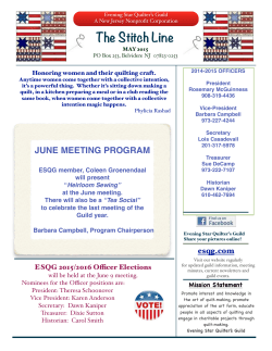 ESQG May 2015 Newsletter copy