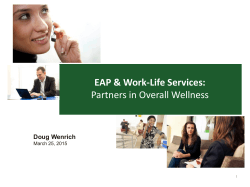 EAP & Work-Life Services: Partners in Overall Wellness
