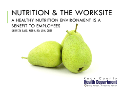Nutrition & the Worksite