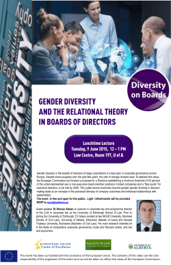 Gender Diversity in Boards of Directors