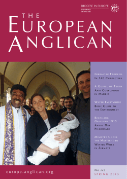 Spring 2015 - Diocese in Europe