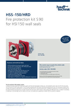 HSS -150/HRD Fire protection kit S 90 for HSI 150 wall seals