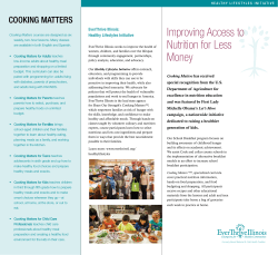 Improving Access to Nutrition for Less Money