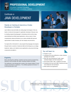 Java Development - University Extended Education, California State