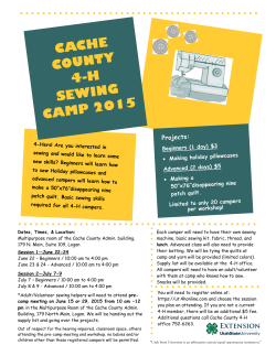 cache county 4-h sewing camp 2015