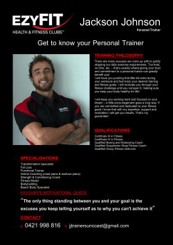 Get to know your Personal Trainer