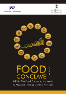 Brochure (Food Conclave 2015) final Single Page