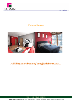 Faiman Homes Fulfilling your dream of an affordable HOME…..
