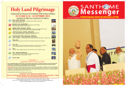 March - April 2015 - Faridabad Diocese