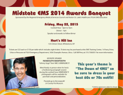 Awards Banquet Flyer - Faxton St. Luke`s Healthcare