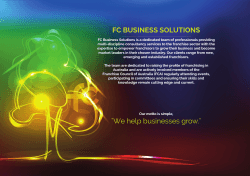Why FC Business solutions?