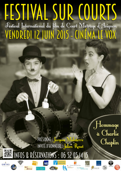 INVITé d`honneur : Julien Ronet - Festival International du Film de