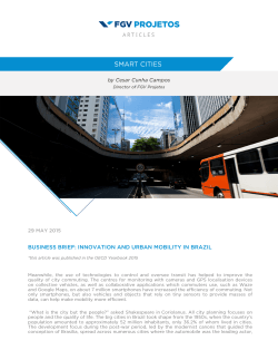 business brief: innovation and urban mobility in brazil