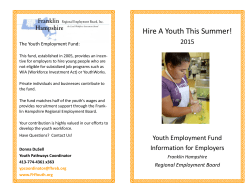 Hire A Youth This Summer! - Franklin Hampshire Youth Employment