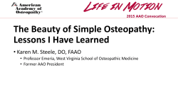 The Beauty of Simple Osteopathy: Lessons I Have Learned