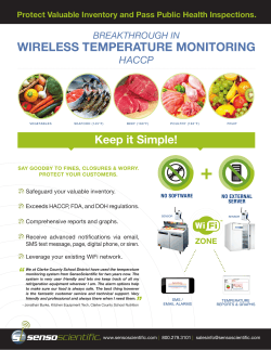 WIRELESS TEMPERATURE MONITORING