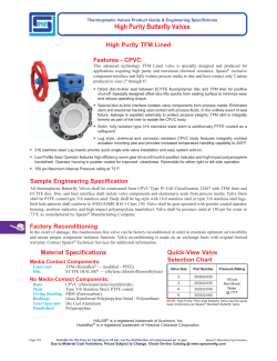 High Purity Butterfly Valves