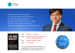 Race Discrimination Commissioner Tim