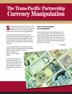TPP Currency Manipulation