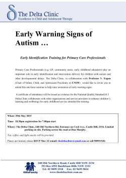 Early Warning Signs of Autism …