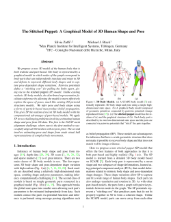 The Stitched Puppet: A Graphical Model of 3D Human Shape and