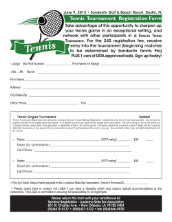Tennis Tournament Registration Form