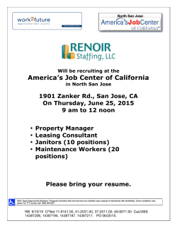 America`s Job Center of California