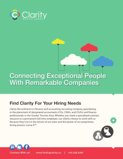 Connecting Exceptional People With Remarkable Companies