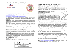 Green Cove Springs Guided Walk Brochure