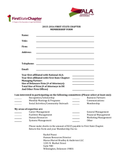 2015-2016 Membership Application