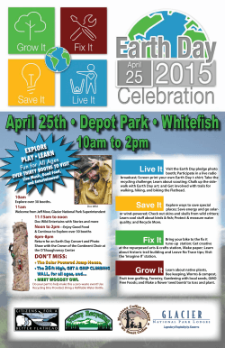 Earth Day 2015 Community Celebration Poster