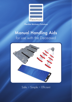 Manual Handling Aids for use with the Deceased