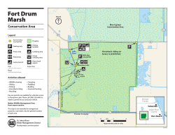 Fort Drum Marsh Conservation Area recreation map