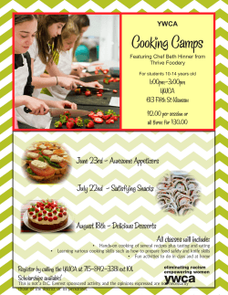 Cooking Camps - DC E-Flyers Online Application