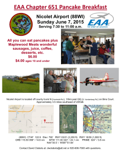 EAA Chapter 651 Pancake Breakfast