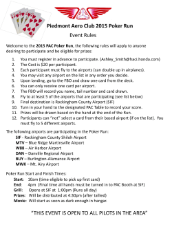 "Piedmont Aero Club 2015 Poker Run Event Rules ""THIS EVENT IS"