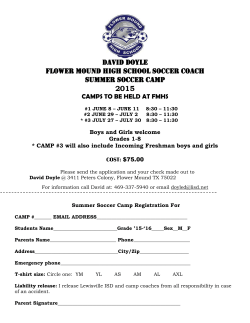 Soccer Camp - Flower Mound High School