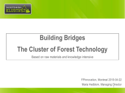 Building Bridges The Cluster of Forest Technology