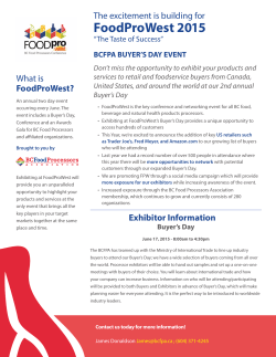 FoodProWest 2015