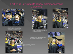 SPRING 2015 Graduate School Commencement Ceremony