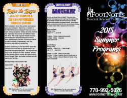 2015 Summer Programs - FootNotes Dance & Acrobatics Studio